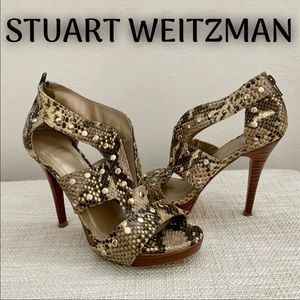 Stuart Weitzman Snake AirForce Leather Heels